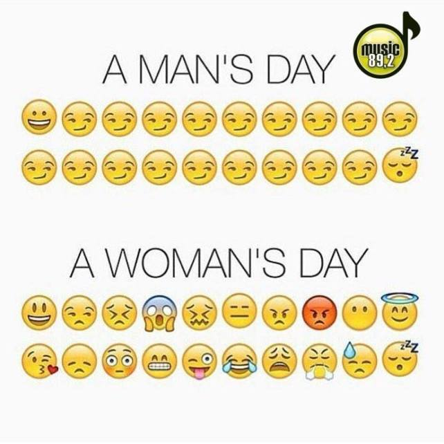 a man's day, a woman's