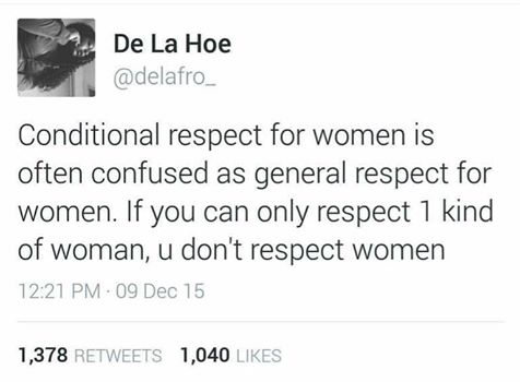 conditional respect of women